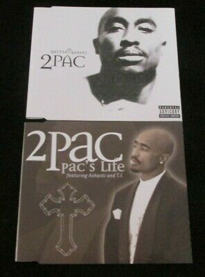 2PAC Ghetto Gospel / Pac's Life 2xCD Single Set • 4£