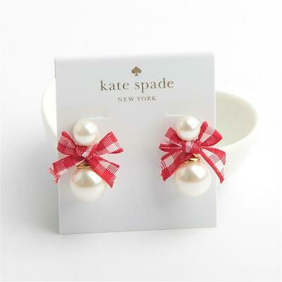 $ CDN32.66 • Buy Kate Spade New York Pretty Pearly Stud Earrings Red