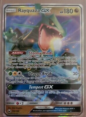 $ CDN12.66 • Buy Rayquaza Gx Ultra Rare Full Art Pokemon Card, #109/168.      Celestial Storm