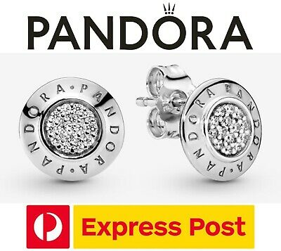 AU69.30 • Buy Pandora Earrings  Sparkling Logo Stud  Cubic Zirconia Sterling Silver (290559CZ)