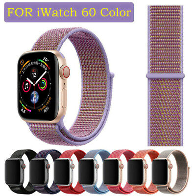 AU11.99 • Buy Nylon Woven Sport Loop IWatch Band Strap For Apple Watch Series SE 6 5 4 38 44mm