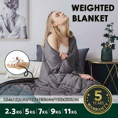 AU62.99 • Buy Weighted Blanket Heavy Gravity Blanket 5/7/9/11KG 100% Cotton Promote Deep Relax