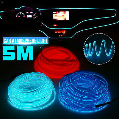 £7.59 • Buy 5M LED Car Interior Atmosphere Glow Wire Neon String Strip Light Decor Lamp