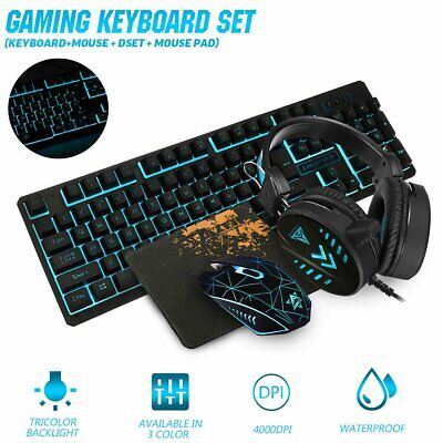 AU48.89 • Buy Gaming Keyboard Mechanical Keyboard And Wired Mouse Headset Three-piece Set AU
