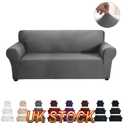 1-3 Seater Sofa Seat Covers Couch Slipcover Cushion Elastic Fabric Protector UK • 20.15£