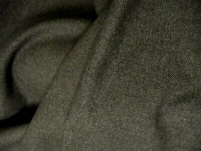 1 Mtr GREY LINEN LOOK HEAVY UPHOLSTERY FABRIC  REMNANT SEATING FURNISHINGS • 1£