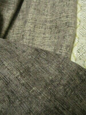 1 Mtr  MUSHROOM CHENILLE UPHOLSTERY FABRIC  REMNANT SEATING FURNISHINGS SUPPLE • 1£