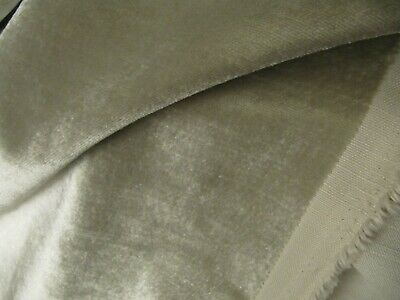 1.9 Mtr ALLURE DOVE GREY VELVET UPHOLSTERY FABRIC  REMNANT SOFT FURNISHINGS CUR • 1.20£