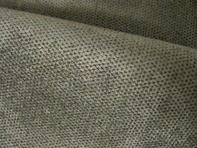 120 X 120cm  GREY HEAVY UPHOLSTERY FABRIC  REMNANT SEATING FURNISHINGS • 1£