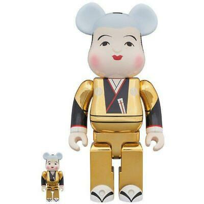 $313.04 • Buy Fukue Bearbrick Gold Plated 100 400 Bearbrick