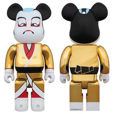 $168.84 • Buy Bearbrick Bearbrick Kabuki 400 Gold Plated