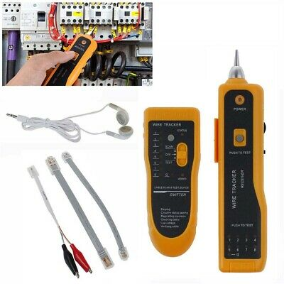 Cable Tester Wire Tracker Network Telephone Line Tracer Toner Lan Phone RJ11/45 • 14.79£