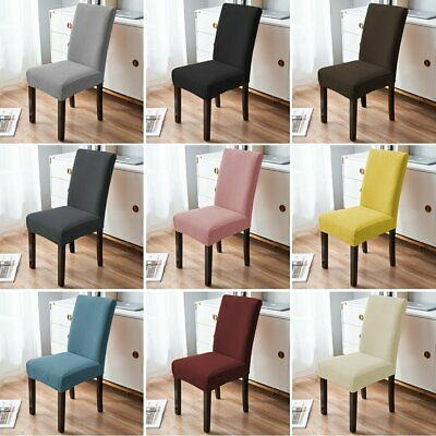 AU1.29 • Buy 4/6/8PCS Dining Chair Covers Spandex Slipcover Stretch Washable Wedding Banquet