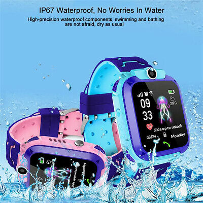 AU30.29 • Buy New Waterproof Tracker GPS Smart Kids Watch With Camera SOS Call For IOS Android