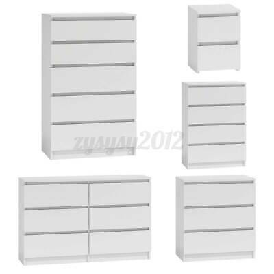 £87.99 • Buy White Chest Of Drawers Bedroom Furniture Hallway Tall Wide Storage 3 4 5 6 Draws