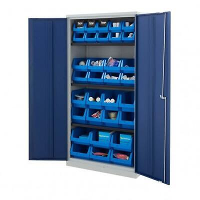 £557.99 • Buy Bisley Tall Office Workplace Double Door Cupboards With Parts Bins