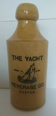 AU26.86 • Buy The Yacht Beverage Co. Exeter Pictorial Stoneware Ginger Beer Bottle