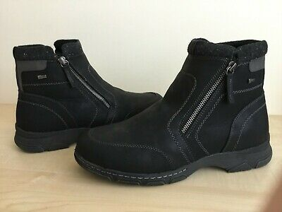 Pavers Relife Mens Black Nubuck Leather Boots • 30£