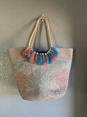 Sakroots Lola Beach Tote Bag Coral Embroidery  • 25.03£