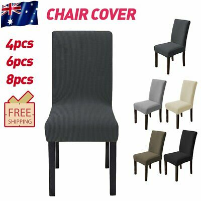AU21.99 • Buy Dining Chair Covers Wedding Banquet Party Decor Home Seat Covers Stretch Spandex