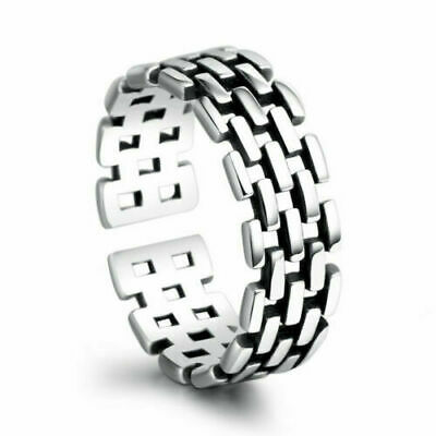 925 Silver Plated Adjustable Open Band Thumb Rings Ladies Statement Gift Wrap UK • 3.39£