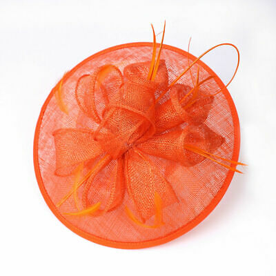 Nude Feather Fascinator Headband Clip Aliceband Hat Weddings  Ladies Day Party • 2.99£