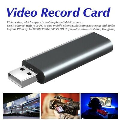HDMI To USB 2.0 Video Capture Card 1080P HD Recorder Game / Video Live Streaming • 10.99£