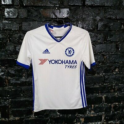 Chelsea Jersey Third Shirt 2016 - 2017 White Blue Adidas AI7150 Size Young L • 12.45£
