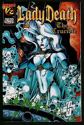 Lady Death The Crucible #½ Comic NM Plus With Certificate • 14.95£