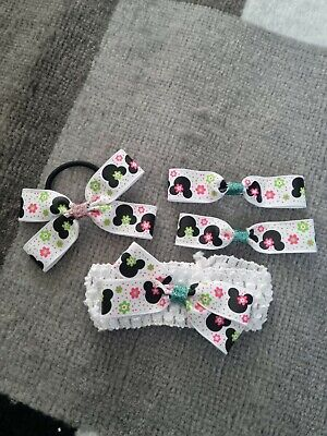 AU9.03 • Buy Beautiful Set MINNIE MOUSE Hair Accessories, New!!
