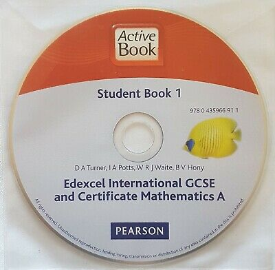 Pearson Edexcel IGCSE Student Book 1 CD Mathematics A Revision Guide - CD Only • 1.50£