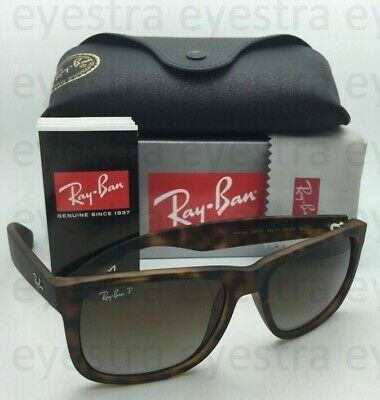 AU119.99 • Buy Ray Ban Sunglasses RB4165 865/T5 55mm Justin Havana Frame Brown Polarized Lens