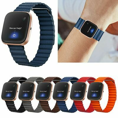 $ CDN8.31 • Buy Magnetic Loop Leather Watch Band Wrist Strap For Fitbit Versa 2/Versa/Versa Lite