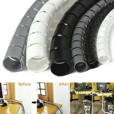 £4.48 • Buy 2M Cable Hide Wrap Tube 10/25mm Organizer&Management Wire Spiral Flexible Cor*wk