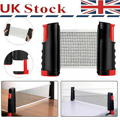 Portable Extendable Net Table Tennis Indoor Ping Pong Games Replacement Set UK • 9.26£