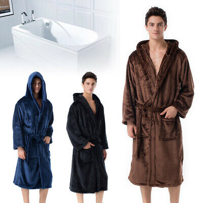AU48.98 • Buy Men Bathrobe Gowns Snuggle Dressing Gown Robes Extra Long Super Soft Cuddly New