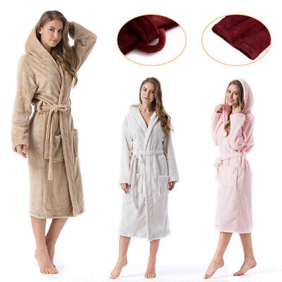 AU53.98 • Buy Women Bathrobe Snuggle Dressing Gown Robes Extra Long Super Soft Cuddly Gowns