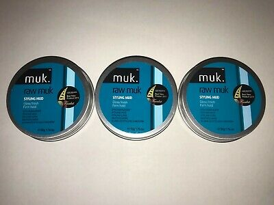 Muk Haircare - Raw Muk - Blue Tub - 50g - Firm Hold - Gloss Finish -pack Of 3  • 24£