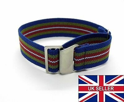 £8.99 • Buy 60's Style Elastic Colourful Nylon NATO Watch Strap MOD G10 20mm 22mm Watchband