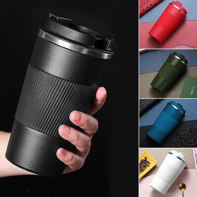 AU23.59 • Buy Insulated Travel Coffee Mug Cup Thermal Flask Vacuum Thermos Stainless Steel Hot