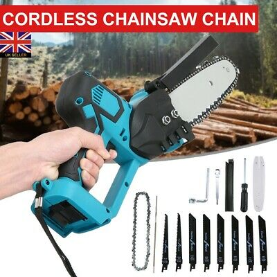 UK Electric Cordless Chainsaw Garden Chain Saw Cutting Tool For Makita Battery • 53.99£