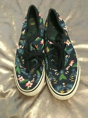 Lacoste Boating Shoes Tropical Print Size 7 Used • 3.50£