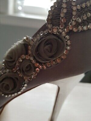 Ladies Silver Gray French Wedding Shoes Used Once  • 5£