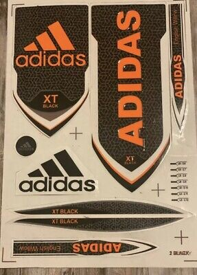 Adidas XT Black & Orange Cricket Bat Sticker Textured Embossed  • 10£
