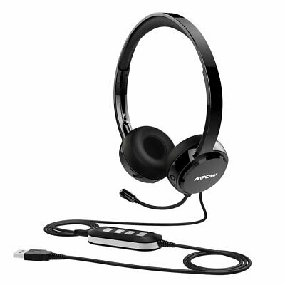 Mpow USB Headset 3.5mm Computer Wired Headphones For Skype Webinar Call Center • 21.56£
