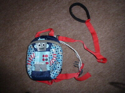 Modern  Reins  - Toddler Small Backpack With Robot Design With  Parent Handle • 3£
