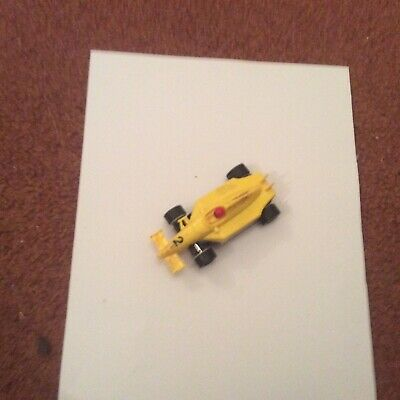 Micro Scalextric Yellow Repsol Number 2 F1 Car Working 1:64 New Pick Up Braids • 7.99£