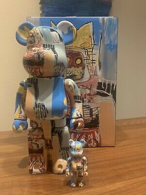 $260 • Buy Medicom BE@RBRICK Jean-Michel Basquiat #6 400% + 100% Multi Bearbrick Figure Set