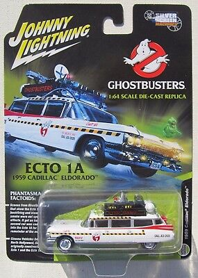 Johnny Lightning Ghostbusters Ecto-1a 1959 Cadillac Silver Screen Machines * New • 10.82£