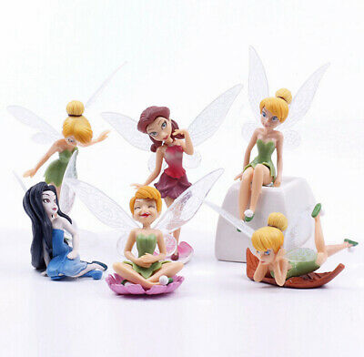 6 Tinkerbell Fairies Secret Of The Wing Action Figure Doll Cake Topper Toy Decor • 6.54£